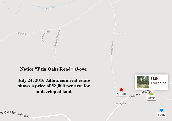 Twin Oaks on Zillow